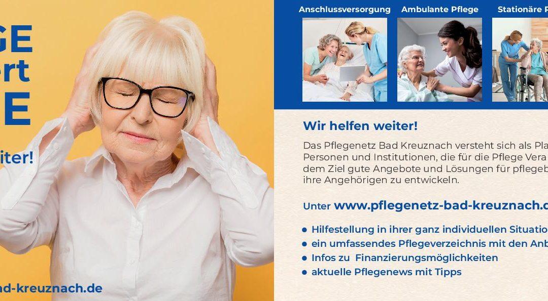 PFLEGENETZ Bad Kreuznach bewirbt Angebot mit Flyer