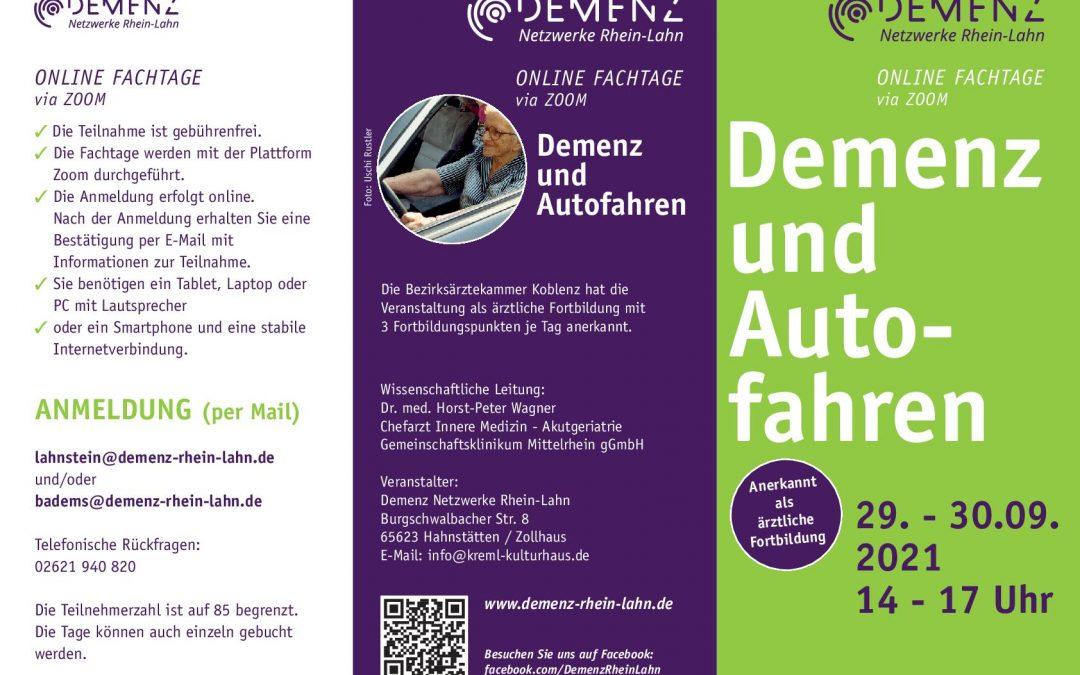 29./30. September: Online-Fachtage – auch für Interessierte und pflegende Angehörige