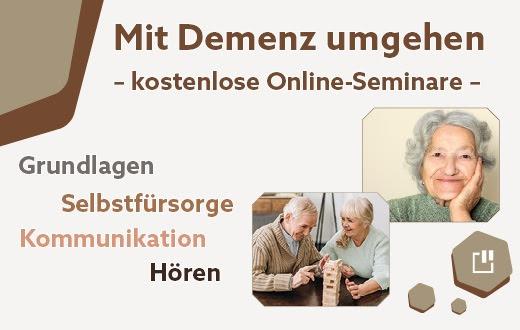 Kostenlose Online-Seminare für Angehörige und Pflegende